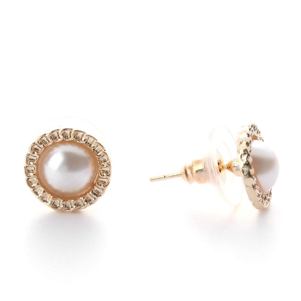 6 Pairs Fashion Crystal Rhinestones Flower Pearl Earrings Ear Stud Jewelry Zircon Pearl Crystal Rhinestones Nice Romantic Gift
