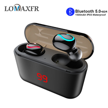 Wireless Bluetooth Headset With Mic Stereo Sports Headphones In Ear TWS 5.0 Running Earphone Charging Box