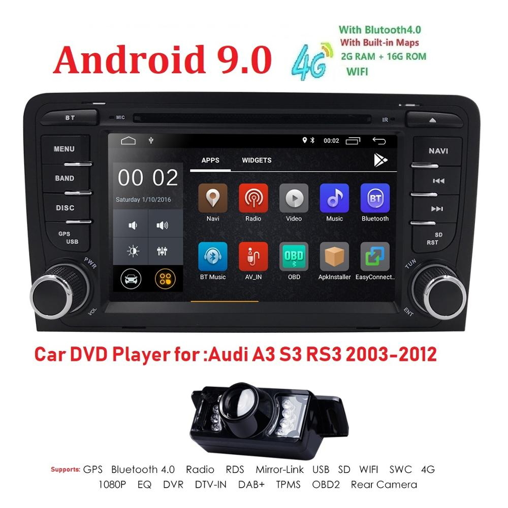 2 Din Auto <font><b>Radio</b></font> Android 9 Für <font><b>Audi</b></font> <font><b>A3</b></font> 8 P/<font><b>A3</b></font> 8P1 3-tür Hatchback/S3 8 p/RS3 Sportback Auto Multimedia Video Player GPS DVR image