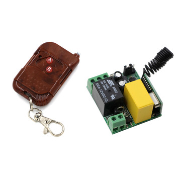 цена на AC220V 10A Relay 1CH Wireless RF Remote Control Switch Learning Code Transmitter + Receiver ; 315Mhz/433Mhz High Quality