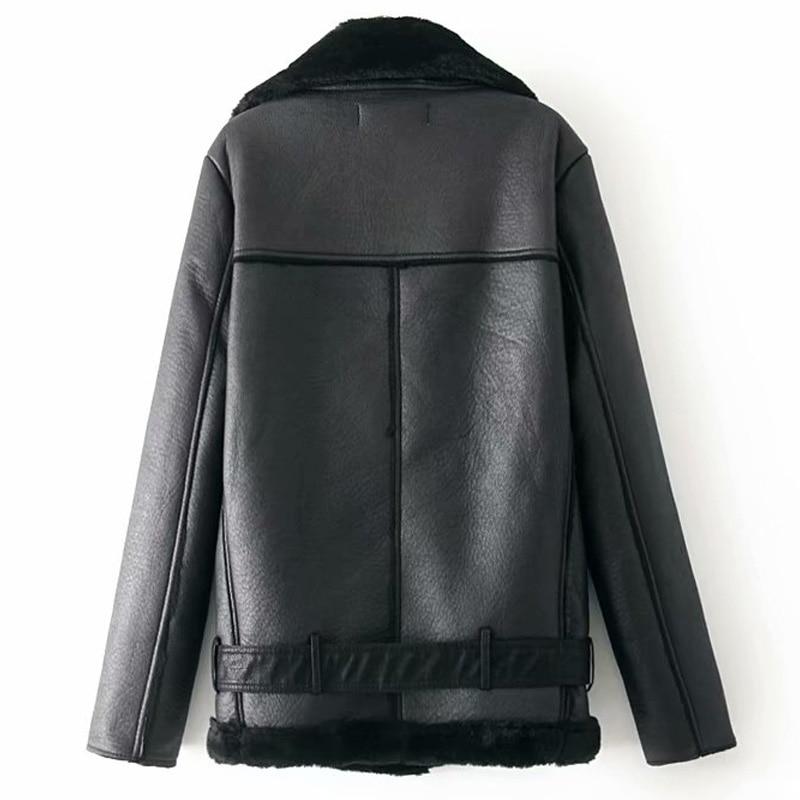 Warm women's winter motorcycle velvet jacket female short 12
