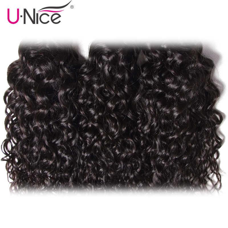 Волосы UNICE, волна воды, бразильские волосы, плетение пучков 3 шт. 100%, человеческие волосы, ткет, натуральные цветные волосы Реми 8-26 дюймов, бесплатная доставка