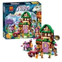 348pcs 10502 Elves The Starlight Inn Kits Minis Compatible With Legoingly 41174 Building Blocks Brick Girl