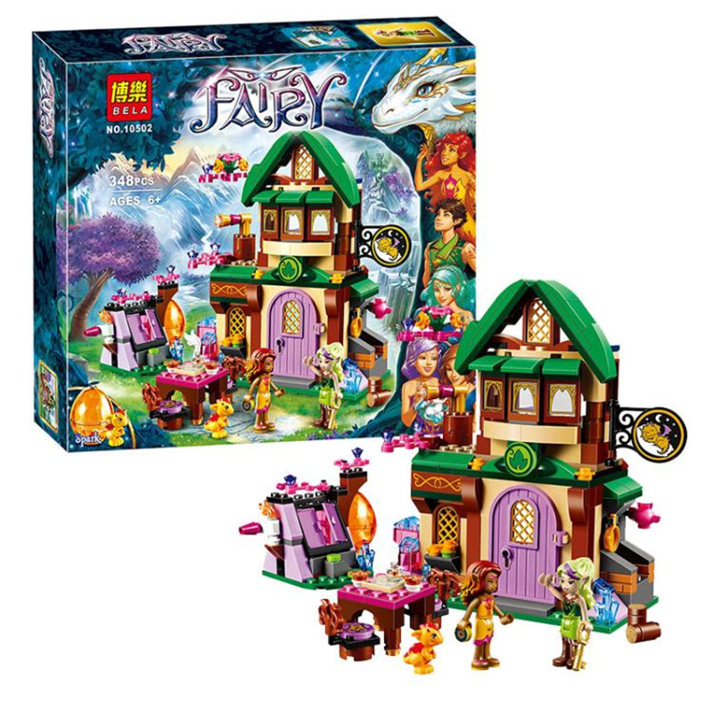 348pcs Bela 10502 Diy Elves The Starlight Inn Kits minis Compatible With Legoingly 41174 Building Blocks Brick Toys For Children ynynoo bela 10501 233pcs princess friend elves elvendale school of dragons model building kits blocks brick with 41173