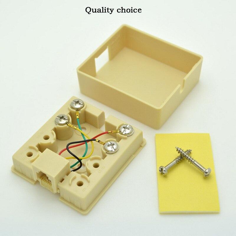 1-port Skrivbords-telefonkopplingsdosa Kabelanslutning CAT3 - Datorkablar och kontakter - Foto 5
