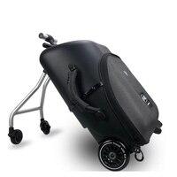 Детский самокат чемодан Ленивый ручной клади на колесиках ездить на тележке чемодан девочка и мальчик Съемная сумка на колесиках для ребен