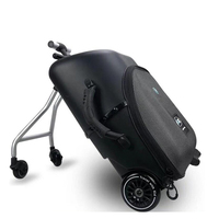 Kids scooter suitcase Lazy carry on rolling luggage ride on trolley suitcase girl&boy Detachable trolley bag on wheels for baby