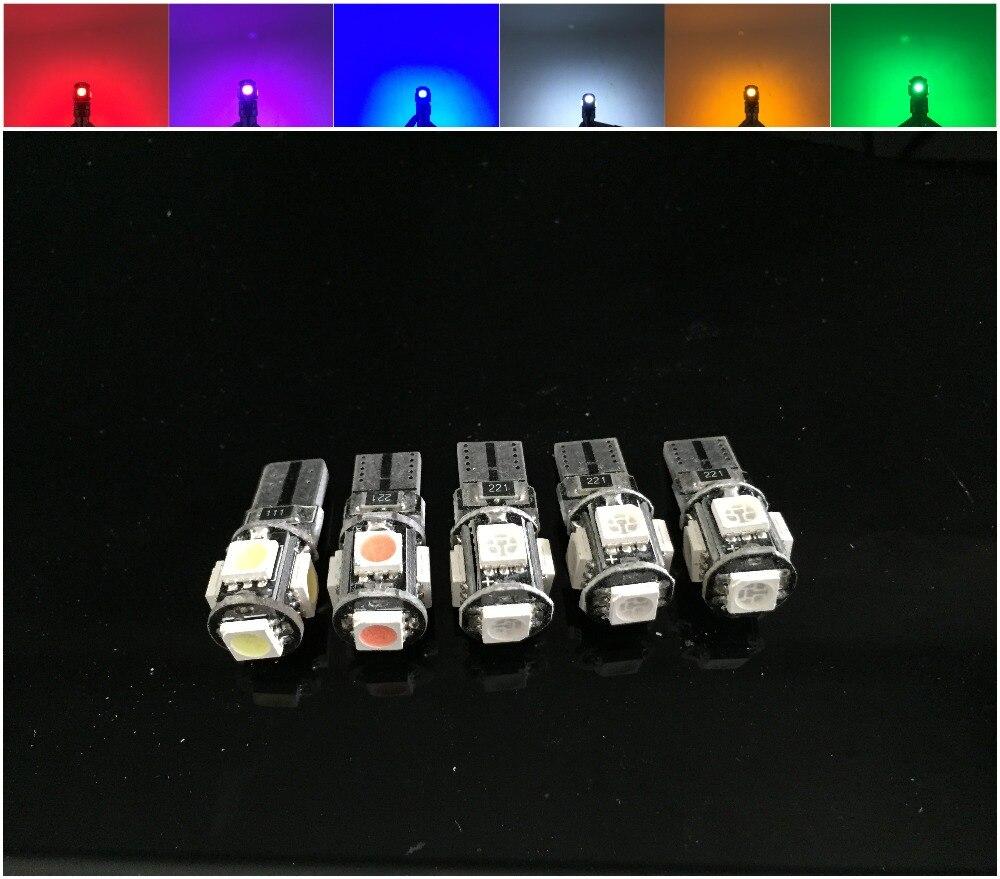 Оптовая Продажа CANBUS T10 5smd 5050 Автомобильные светодиодные CANBUS W5W 194 5050 SMD Ошибок Белый Лампочки
