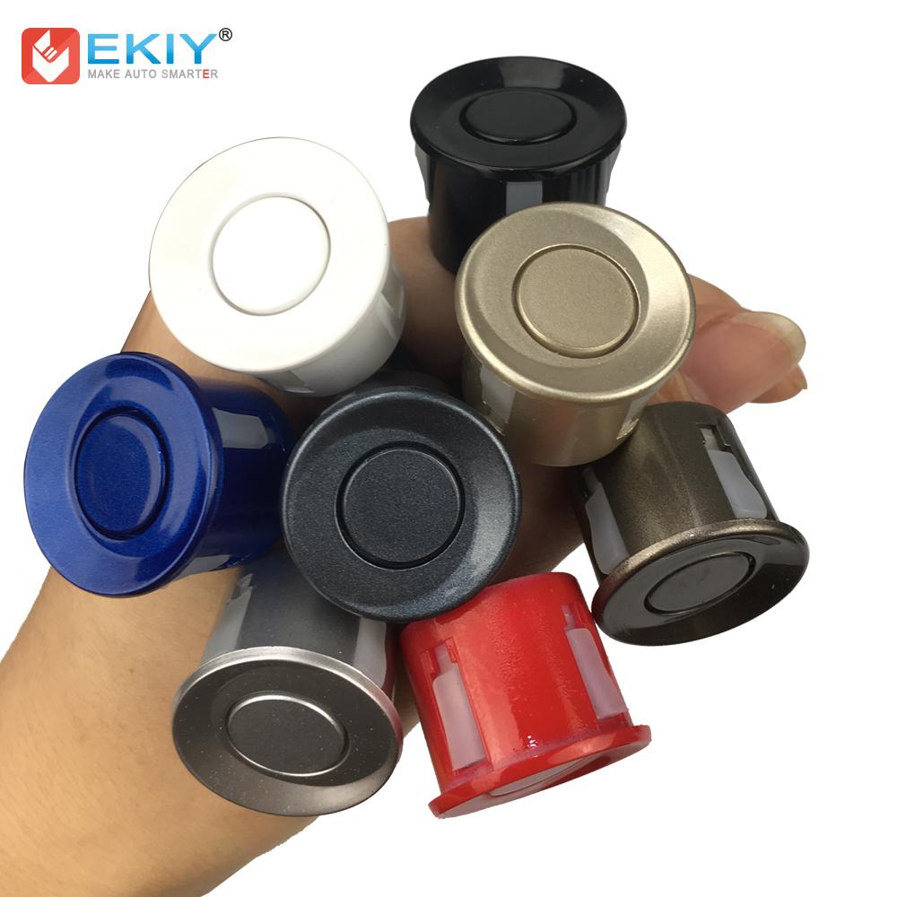 EKIY Car Parking Sensor Black Red Blue Silver Gold White Gray Champagne Gold Color For 22mm Sensor Kit Monitor Reverse System
