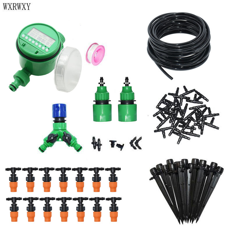 DIY Drip irrigation system Watering kit automatic irrigation system 2 WAY Gardening tool kit For greenhouse 1 set-in Watering Kits from Home & Garden    1