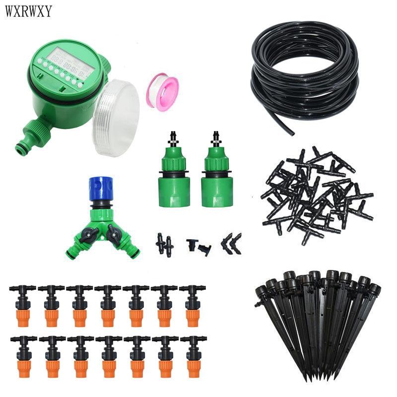 DIY Tropf bewässerung system Bewässerung kit automatische bewässerung system 2-WEG Gartenarbeit tool kit Für gewächshaus 1 set