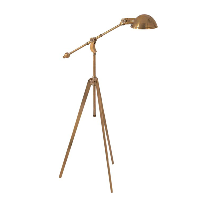 Classic copper Floor Lamp American Office Desk Bedroom Adjustable Direction Standing Lamp Copper table Home decoration Lighting