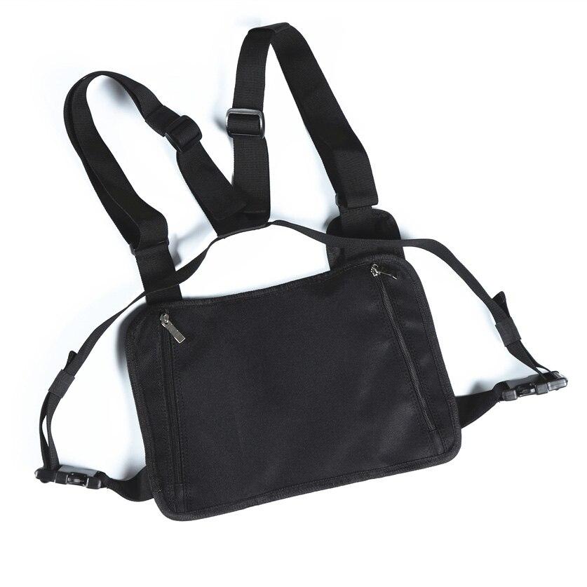 Fashion Chest Rig Bag Hip Hop Streetwear Functional Tactical Chest Bags Cross Shoulder Bag Kanye West  backpack waist bag black