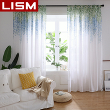Embroidered Floral Tulle Sheer Curtain For Living Room Bedroom Kitchen Window Modern Curtains Voile Fabric Drapes LISM