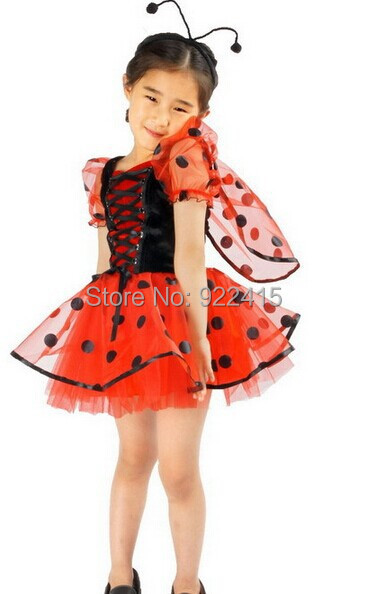 CaGiPlay high quality children carnival  cosplay Performance gift  girls party dress Cute little beetle princess dress