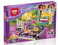 Lepin 01009 Friends Girls The Amusement Park Roller Coaster 424pcs Building Blocks Brick Toys For Children 41133
