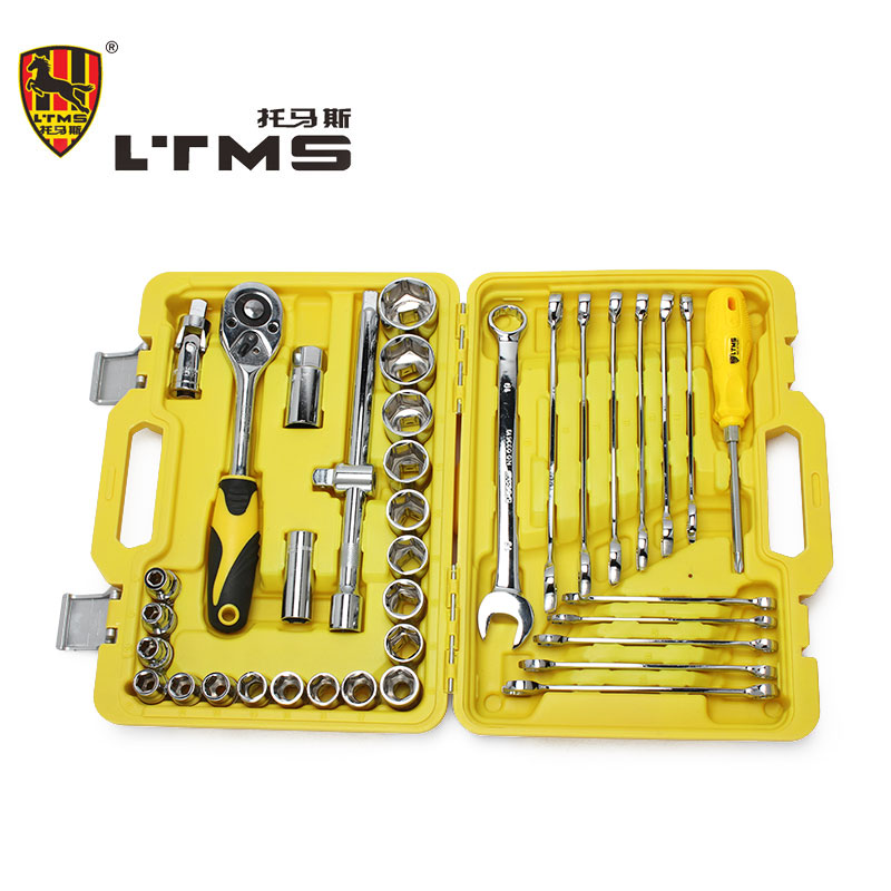 38 pieces in 1 Set High Quality Multi-purpose Wrench Ratchet Wrench Screwdriver Maintenance Hand Tools Combination Tool Kit xkai 14pcs 6 19mm ratchet spanner combination wrench a set of keys ratchet skate tool ratchet handle chrome vanadium