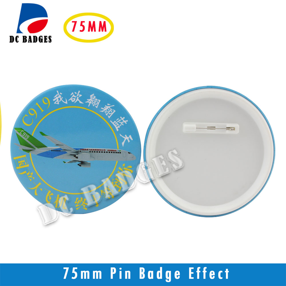 2017 New Pin button Wholesale manufacturers 3(75mm) 1000sets  Plastic Pinback Badge Material 2017 wholesale manufacturers 2 50mm 1000sets plastic pinback badge material