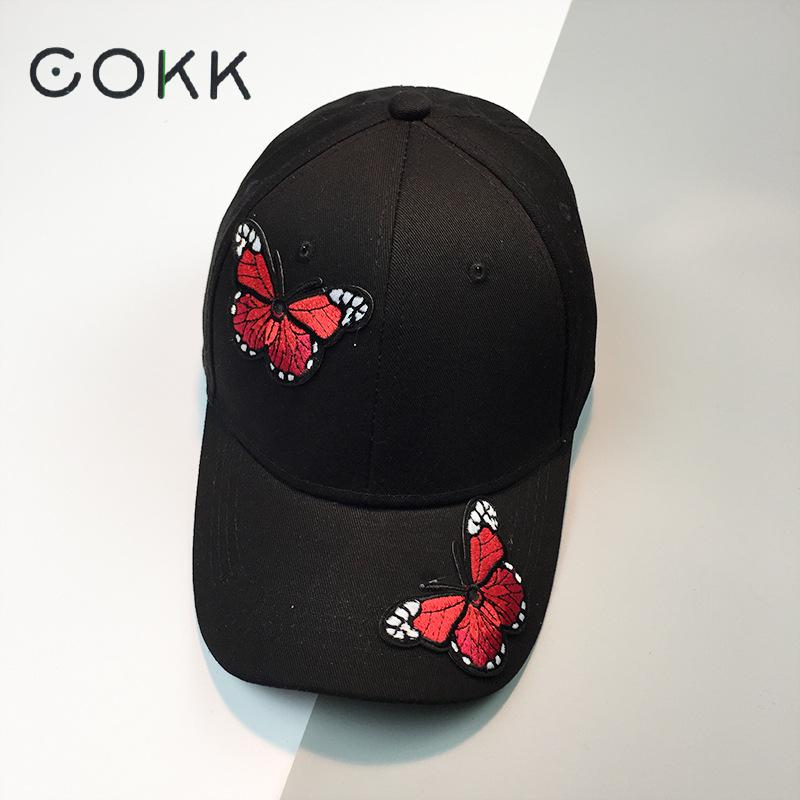COKK Women Cap Lady Black Snapback Dad Hat Sunhat Casual 6 Panel Baseball Cap Female Sport Sun Visor 2017 New Summer lady s skullies womail delicate pregnant mothers soft velvet cap maternal prevention wind hat w7