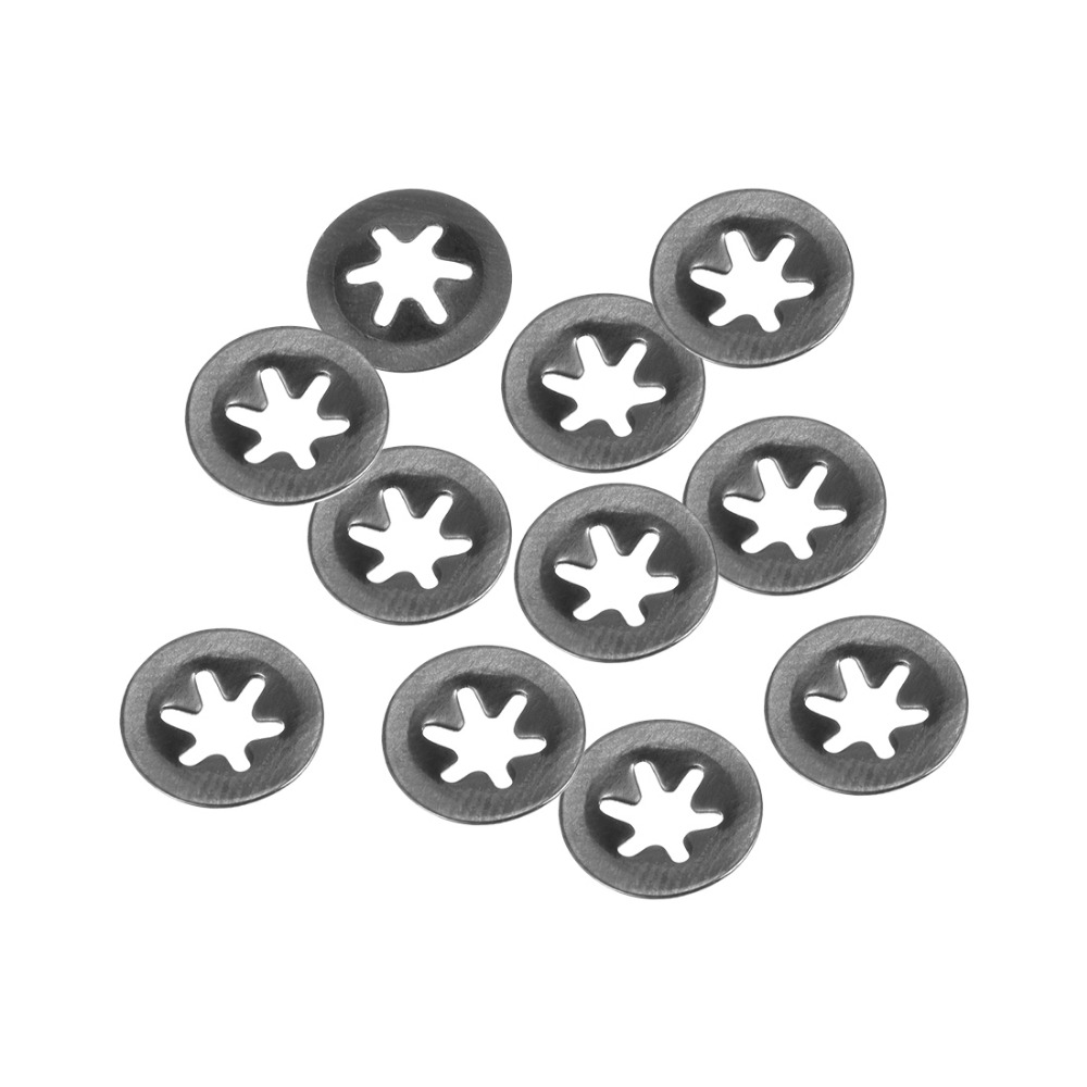 Uxcell 10pcs lot Internal Tooth Starlock Washer M3 M5 M6 M8 M10 M12 65Mn Spring Steel Flat Shaft Fastener Hardware Gasket Lock in Tool Parts from Tools