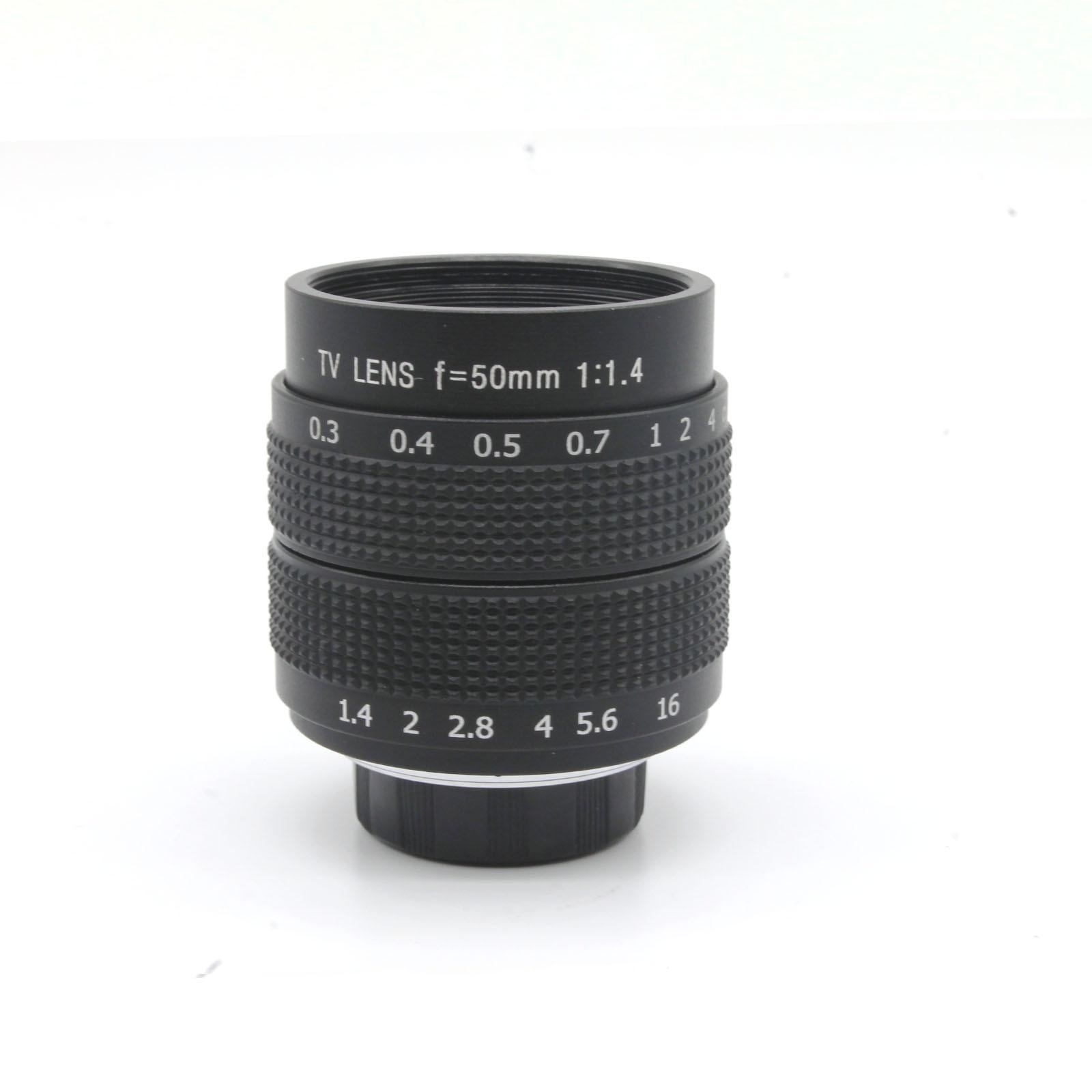 Offre spéciale 50mm f1.4 fujian DE TÉLÉVISION EN CIRCUIT FERMÉ Lentille monture C pour GF3 GF2 GF1 G3 GH1 GH2 EP1 EP2 EPL1 EPL