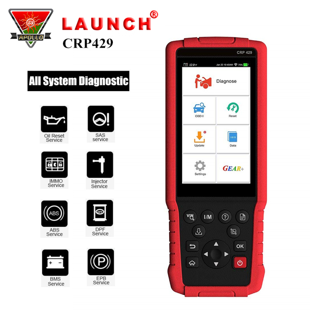 Special Price Launch X431 CRP429 OBD2 Code Reader OBDII Auto Diagnostic Tool Scanner for Car All System Better than CRP429C Creader CRP123