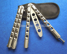 NEW BM40 Stainless Steel balisong knife butterfly Practice Butterfly Training Knife balisong knife butterfly trainer