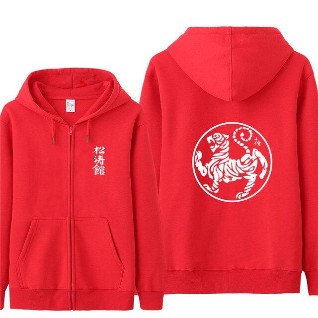 e472722af6 US $23.19 42% OFF New Fashion Hoodies Shotokan Karate Casual Jacket Coat  Mens Zipper Fleece Shotokan Tiger Sweatshirt Hoodie Men Boy's Tracksuit-in  ...