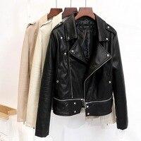 New2016 Fashion Autumn And Winter Faux Leather Jacket Women Short Design Slim Motorcycle PU Jacket Coat