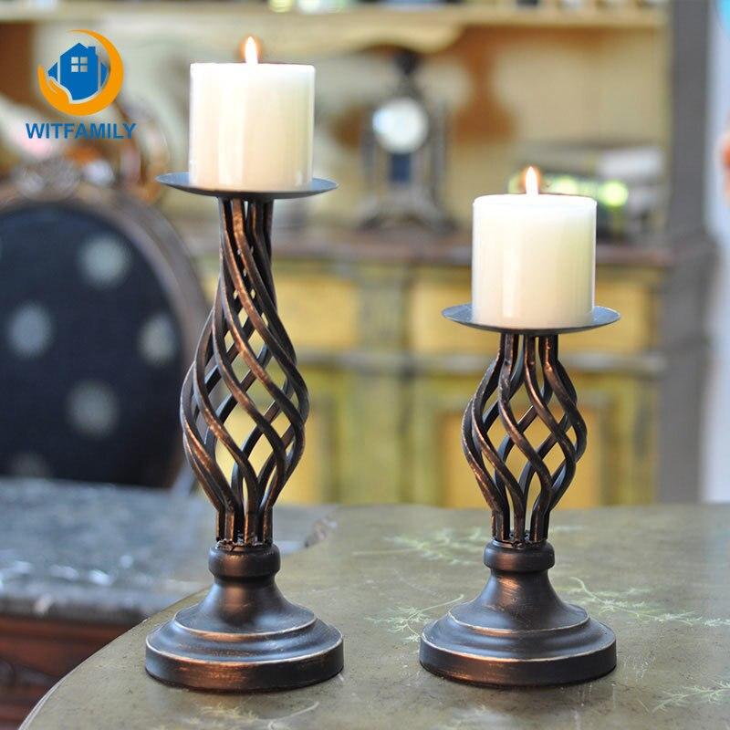 European Style Metal Candle Holder Candlestick Wedding Centerpiece Decor