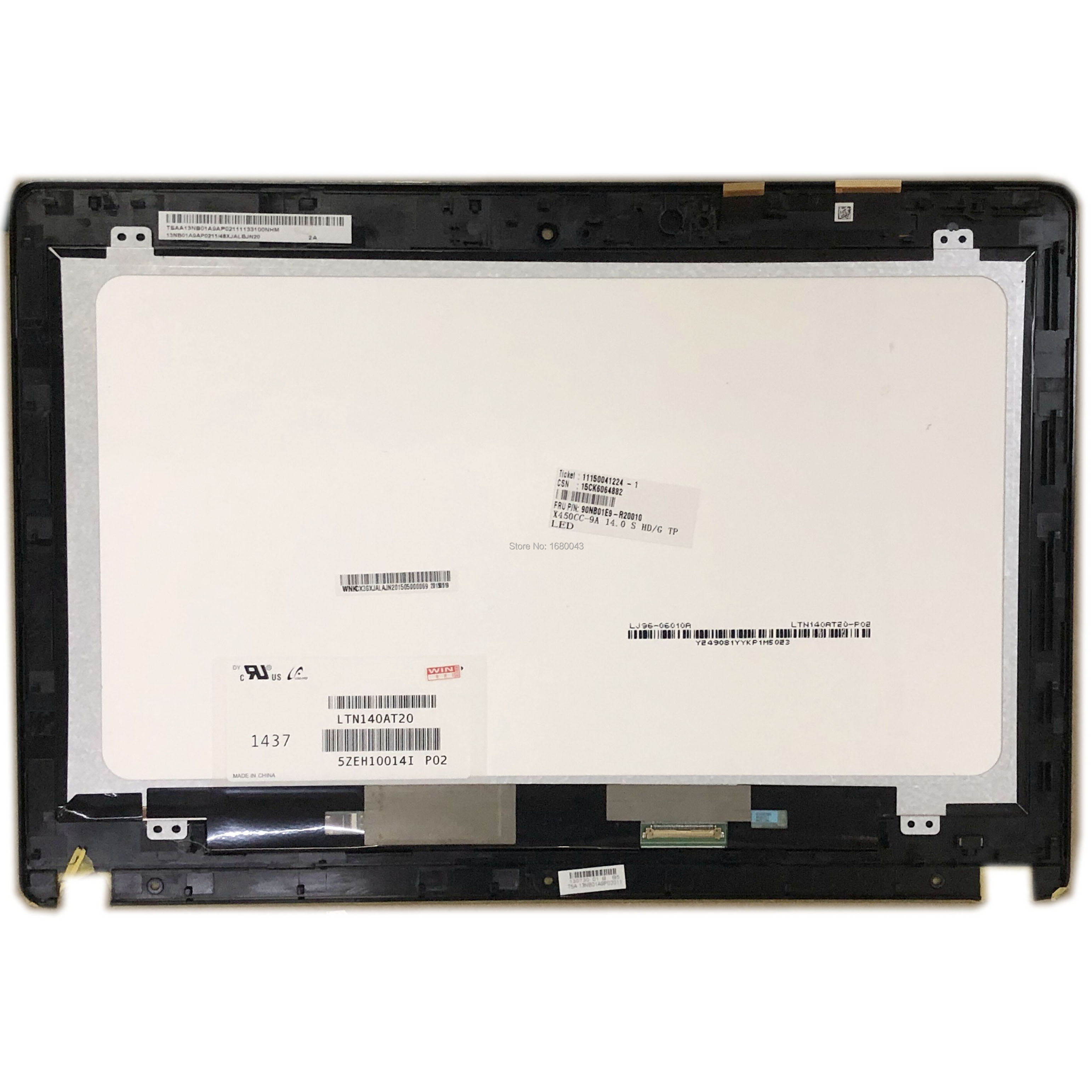 "14.0/"" ASUS X450C 5418R FPC-1 Touch Screen Digitizer Glass Replacement Panel"