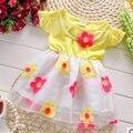 Бесплатная доставка 2016 летний новый хлопок новорожденных девочек платья детям сладкий платье принцессы A146