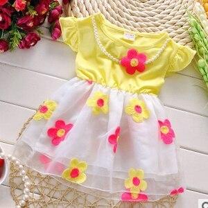 Baby girls dresses Free shipping 2017 summer new cotton kids sweet princess dress A146