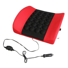 DC12V Electric Vibration Car Massager Waist Pillow Pain Relief Car Seat Back Lumbar Support Cushion Waist Pad (Random Color) 42%