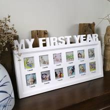 Marco de fotos creativo DIY para bebés de 0 a 12 meses, fotos de