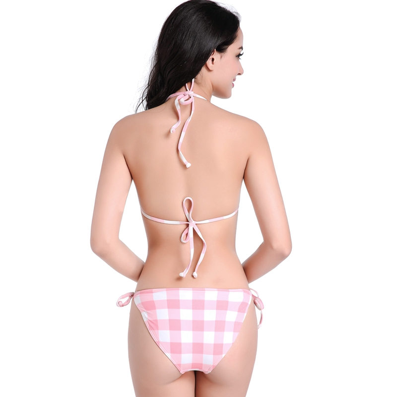 Europe and America Bikini Bottom Sexy New Design Pinky Triangular Island Travelling Hoilday Slim Fit Lady Swim Panty