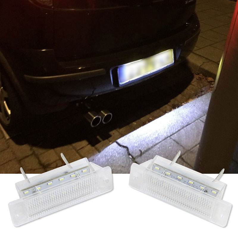 2Pcs Car 18 LED License Number Plate Light Tail Lamp for Opel ASTRA-F 1992-1998 CALIBRA 1989-1997 CSL2018 brand new car styling 18 smd led number license plate lights auto vehicles lamp for opel astra f 92 98 for calibra 89 97