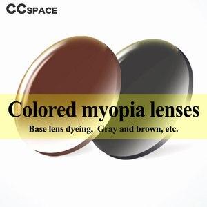 Image 5 - Par de lentes ópticas teñidas para presbicia miopía, graduadas, resistentes A los arañazos, índice 1,56 1,61 1,67