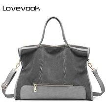4b42e0220e LOVEVOO sac à main des femmes femelle épaule bandoulière sac en cuir fendu  dames sac fourre-tout pour travail de bureau sacs à m.