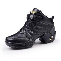 Dance Jazz Sneakers Women Top Shoes Ballroom Dancing Black Square Women Dance Shoes New Cool Jazz