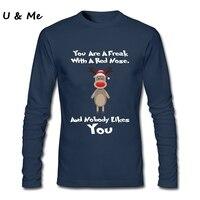 Long Sleeve Fitness Streetwear T Shirt Men Christmas Ugly Sweater Shirt Reindeer Customized Shirts Adult
