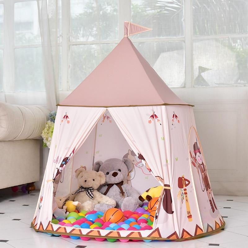 Enfants semblant jouer jouets jouer tentes ethniques coutumes enfants bébé jouets tapis rampant plage tente mer balle piscine jouer maison jouets d'intérieur