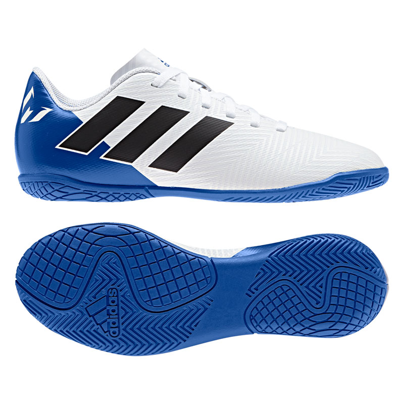 5949af3be4c6 ADIDAS NEMEZIZ MESSI TANGO 18.4 IN J kids-football shoes Synthetic White-soccer  shoes