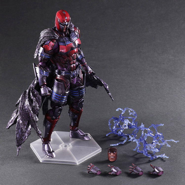 Magneto Play Arts Kai X-Men Action Figure Max Eisenhardt 260mm PVC Collection Model Toy X Men X-Men Magneto PA Kai tobyfancy play arts kai pa marcus fenix game gears of war 3 war machine action figure collection model toy 260mm