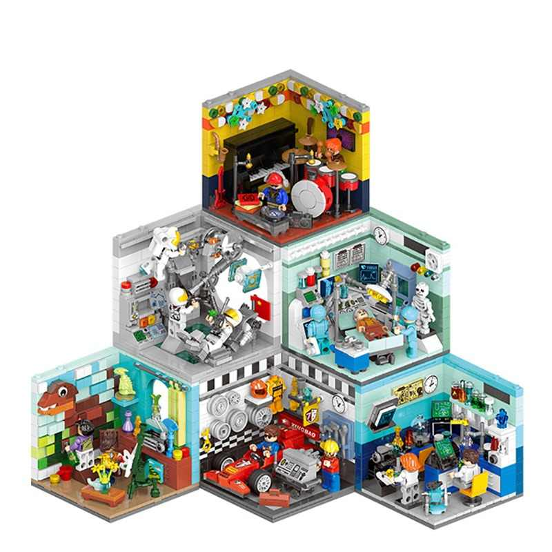 XINGBAO City Building Blocks Living House Bricks Occupation Educational Toys Compatible with Logo blocks toys Driver Scientis