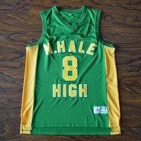 MM MASMIG Wiz Khalifa 8 N. Hale Haut de Basket-Ball Jersey Piqué Vert S M L XL XXL XXXL