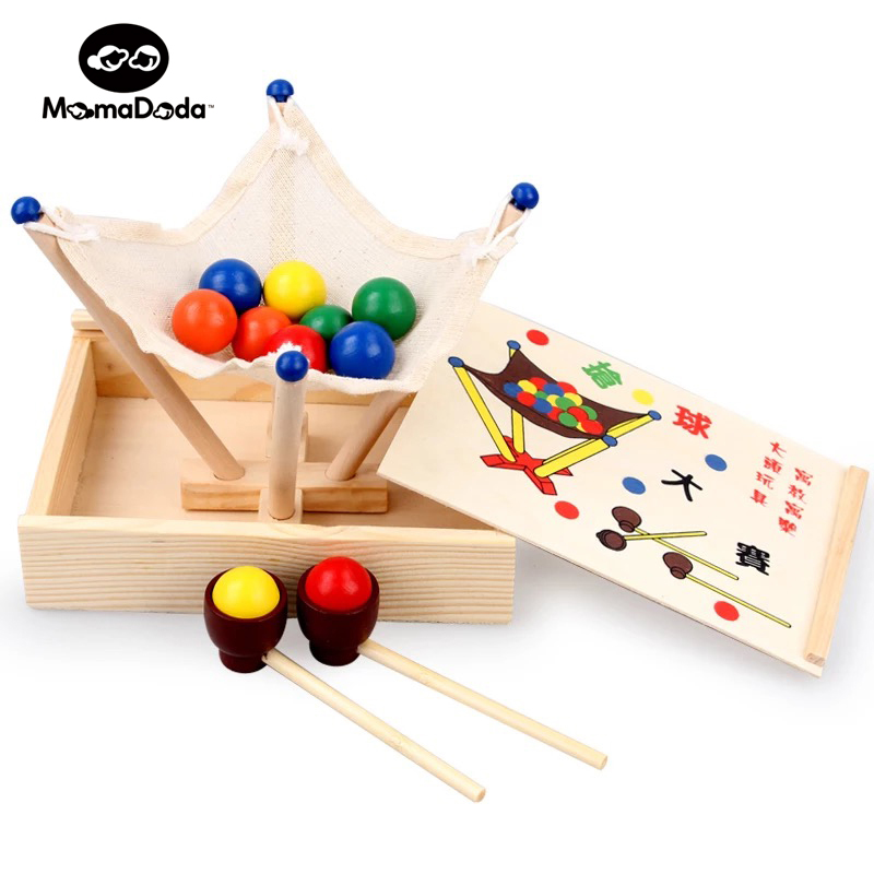 Wooden Montessori Educational Toy For Children Oyuncak Puzzle Baby Fun Montessori Material Grab The Ball Toy Birthday Gift maikou mk524 puzzle educational wooden interlock toy birthday gift