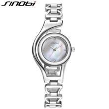 Original SINOBI Bracelet Gold Watches for Women Crystal Diamond Top Brand Woman Watches 2017 Elegant Waterproof Montre Femme