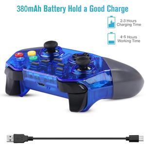 Image 3 - בקר אלחוטי עבור Nintendo מתג Windows PC Bluetooth Gamepad משחק ג ויסטיק פרו מובנה ג יירו כפול הלם Dropship