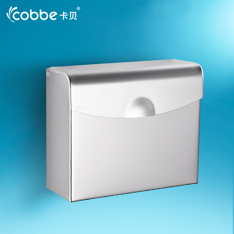 ФОТО Hot Sale Aluminium Wall Mounted Paper Holder Bathroom Accessories WC Paper Holder Toilet Paper Storage Box Cobbe 12601 12601L